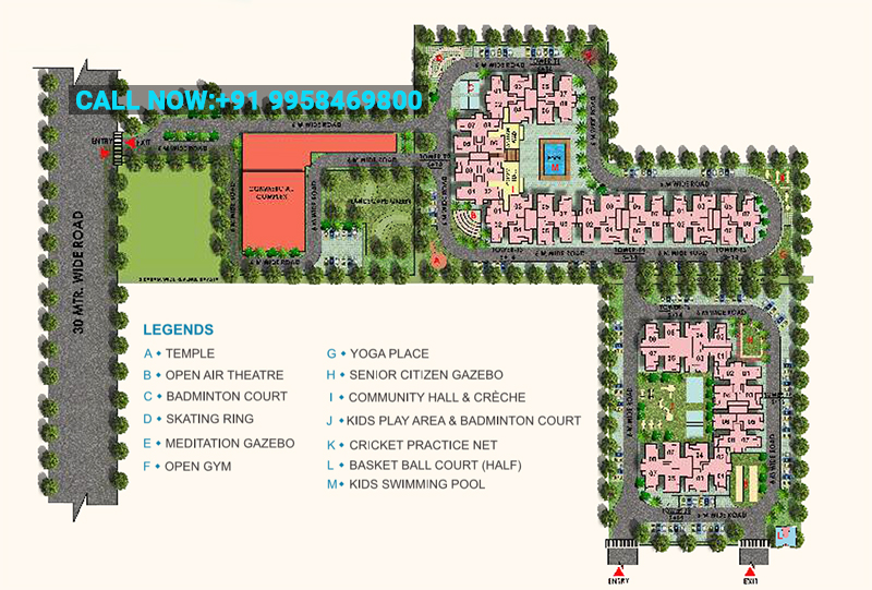 HRH City Projects - Vasant Valley, Faridabad Site Plan